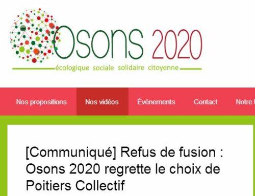 """Communiqué de la liste """"Osons Poitiers"""""""